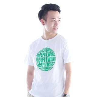 [SALE] Peaceful World T Shirt - White