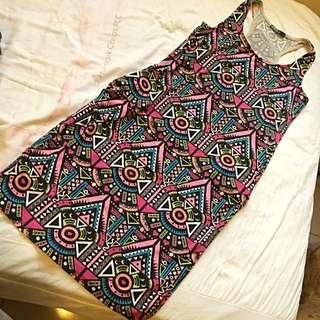 Caco 民族風背心洋裝