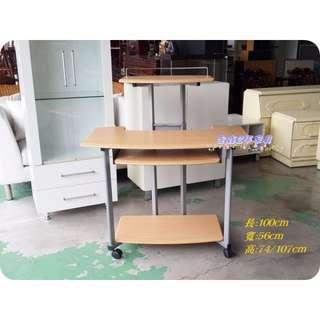 全鑫二手傢俱【100cm活動式電腦桌】書桌 辦公桌 工作桌 專業收購2手家具熱水器OA家具