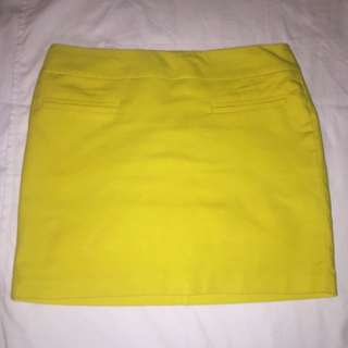 Canary Yellow Calvin Klein Skirt