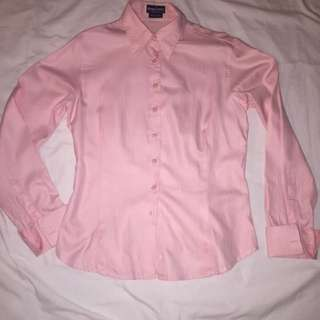 Herringbone Collared Pink Business Shirt