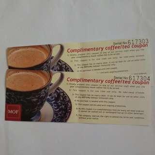 MOF Complimentary Coffee/Tea Coupon