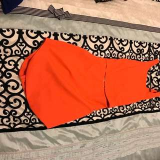 Orange Split Dress