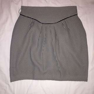 Cue Houndstooth Bubble Skirt