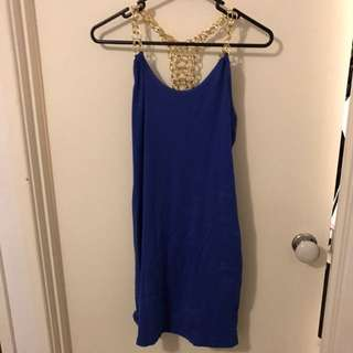 Blue And Gold Chain Dress
