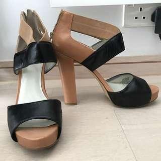 Nine West 4吋高踭鞋涼鞋