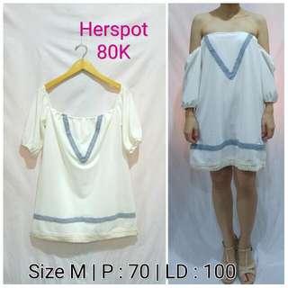 Preloved Dress Putih