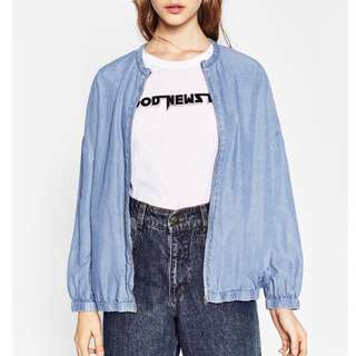 ZARA DENIM BOMBER