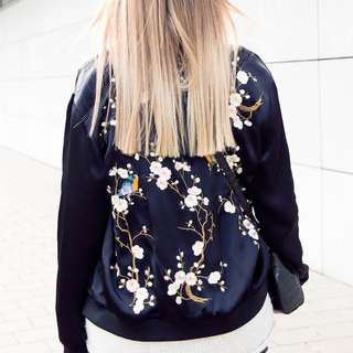Zara Bomber Flower Jacket