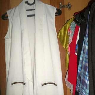 White Long Vest