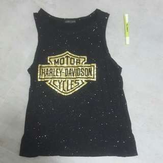 Harley Davidson Black Galaxy Tank Top
