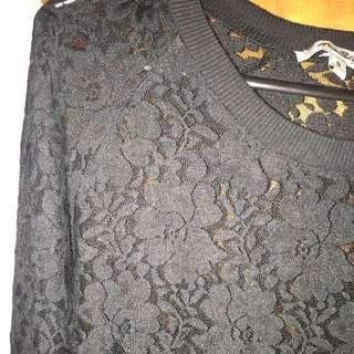 Miss Shop Black Knit Size 8