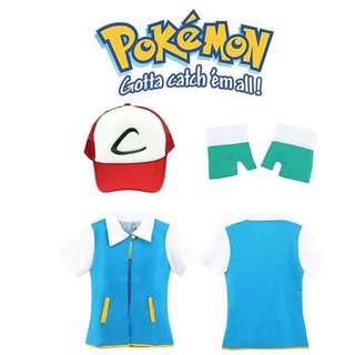 Pokemon Ash Ketchum Pokemon GO Trainer Full Costume