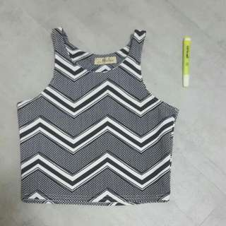 BN black And White Crop Top