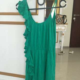 Casual Mango green dress