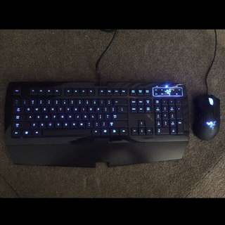 Razer Lycosa Keyboard And Razer Deathadder Mouse