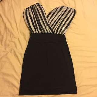 條紋拼洋裝