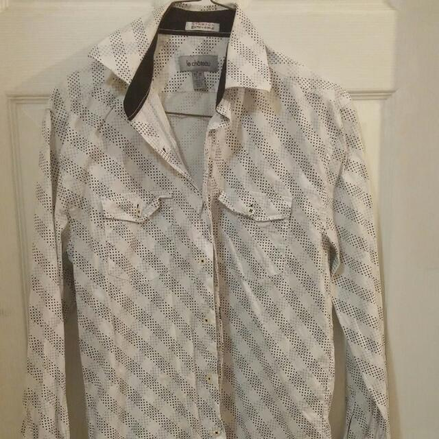 20 For Le Chateau Dress Shirt Others $15. Or 45 For All