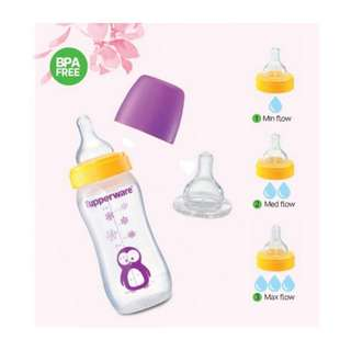 Authentic Tupperware - Tupperware Baby Bottle Penguin with Teat 9oz Purple