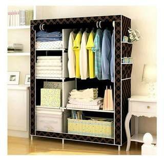 Greatnes D&D 1312 Storage Wardrobe and Clothes Organizer (Chocolate)