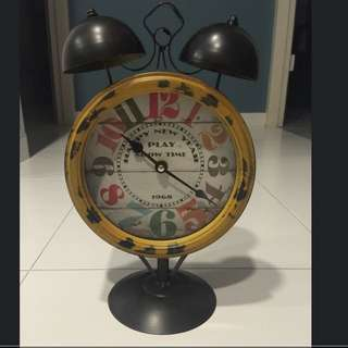 Vintage Happy New Year Mickey Mouse Table Clock!!