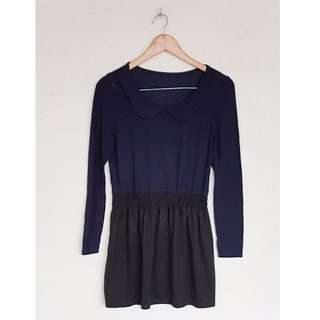 NAVY BLUE PETERPAN COLLAR DRESS