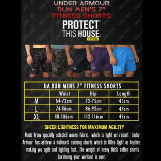 "Under Armour RUN Men's 7"" Fitness Shorts 📥📦INSTOCK‼️"