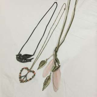 Long Necklaces (Diva, Peacocks)