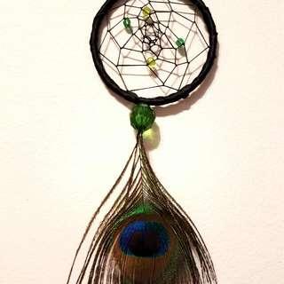 Hand-Made Peacock Dreamcatcher