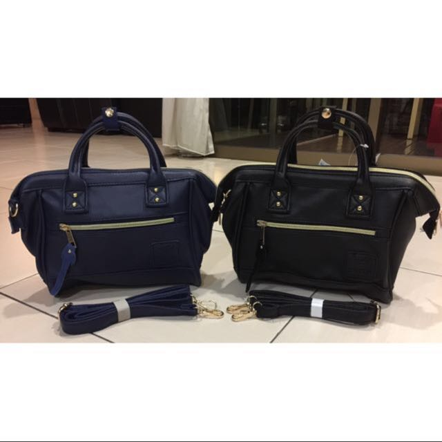 f8faeaac67 3 For  65❣P U Leather Mini Boston Sling Bag💥Black、Navy Blue ...