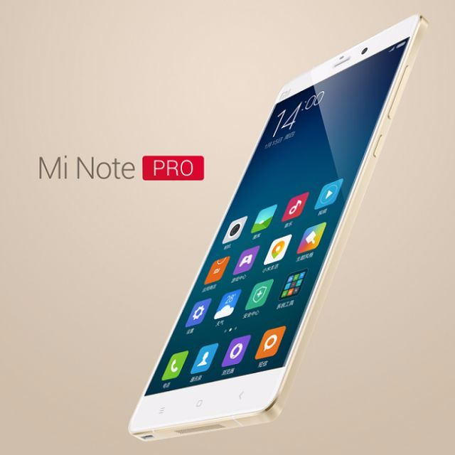 2K Resolution/HiFi Music Phone Xiaomi Mi Note Pro 4GB/64GB Dual SIM  Gold/With Google Play Store Insatalled