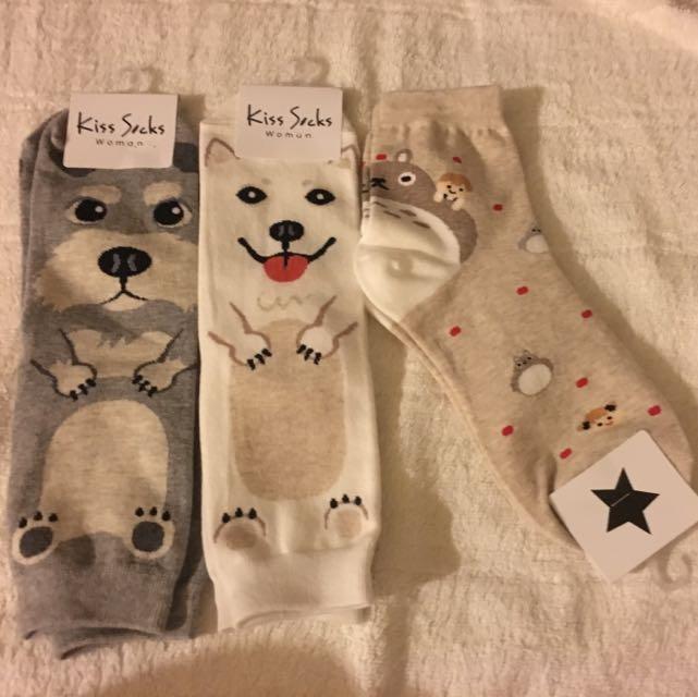 可愛韓國襪子