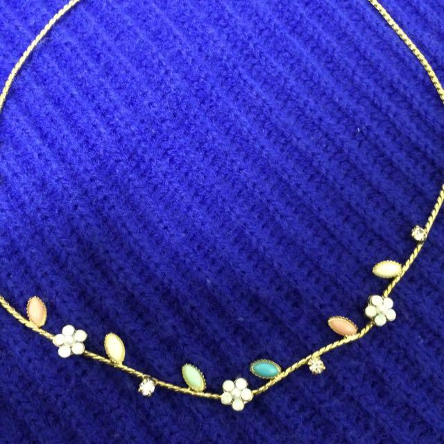 花草金色項鍊
