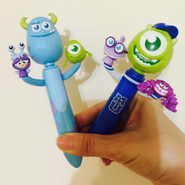 義賣-幫助毛孩子-怪獸電力公司-毛怪/大眼怪雙色原子筆 兩隻一起賣不拆售