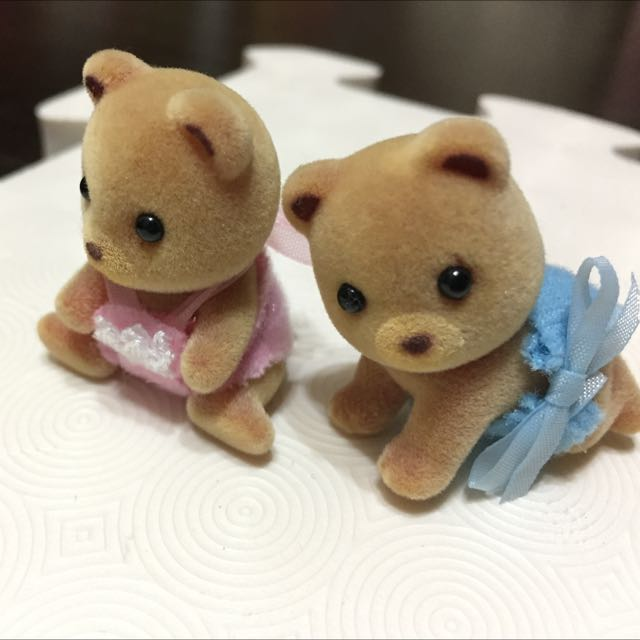 日本帶回 森林家族 小熊娃娃