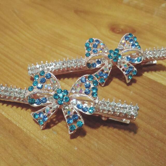 韓風復古 典雅 古典 蝴蝶結 鑽 髮夾 髮飾
