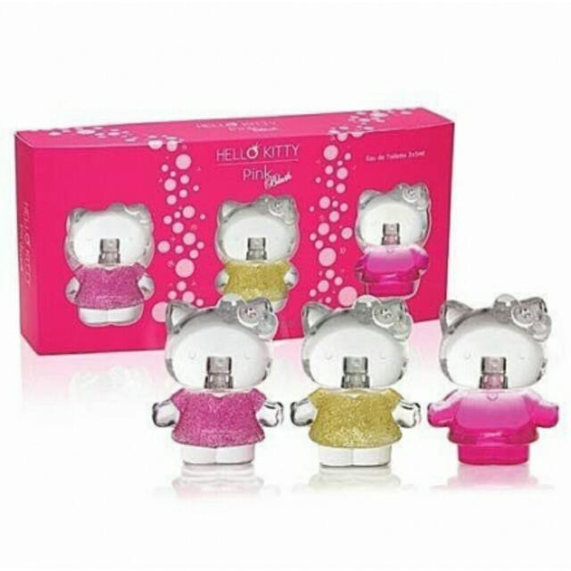 正品 Hello Kitty 粉紅璀鑽小香禮盒