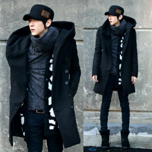 穿搭冬季韓版保暖長版大衣 XL尺寸