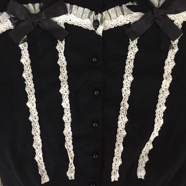Alannah Hill Black Cardigan Lolita Goth