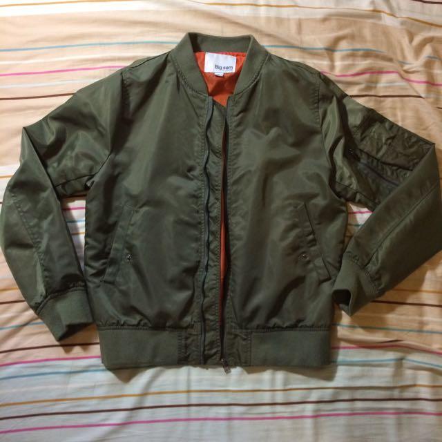 Ma-1 薄款 亮軍綠色 飛行外套