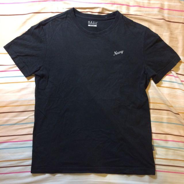 Navy 小logo 黑色素T