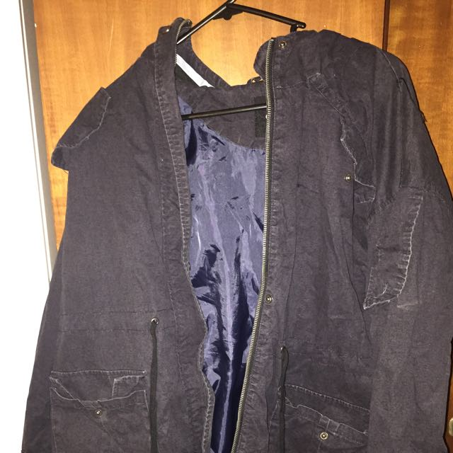 Asos Blue/black Jacket Size 8