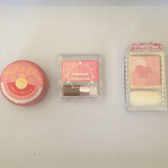 Assorted Japanese Makeup Blushes