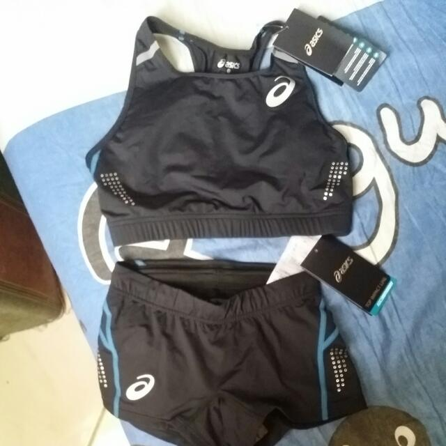 Authentic Asics Sports Bra And Cycling Short