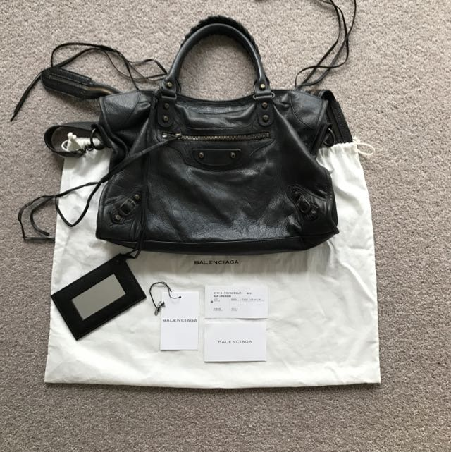 Authentic Balenciaga Black Classic City Bag