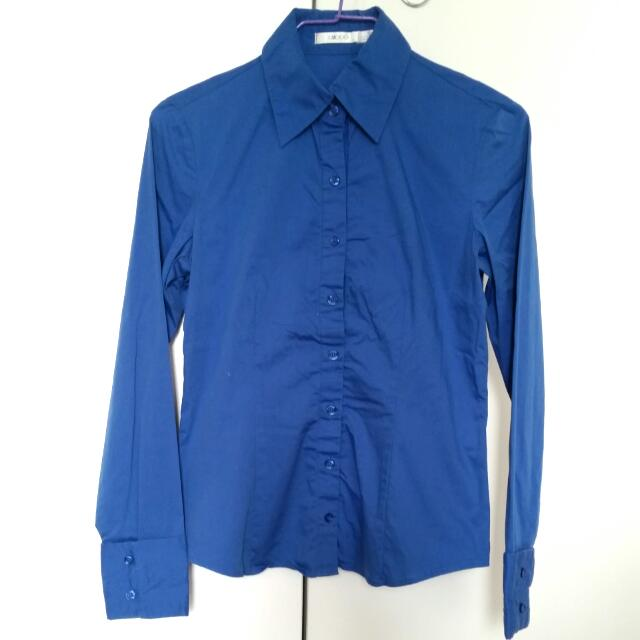 Bright Blue Dress Shirt