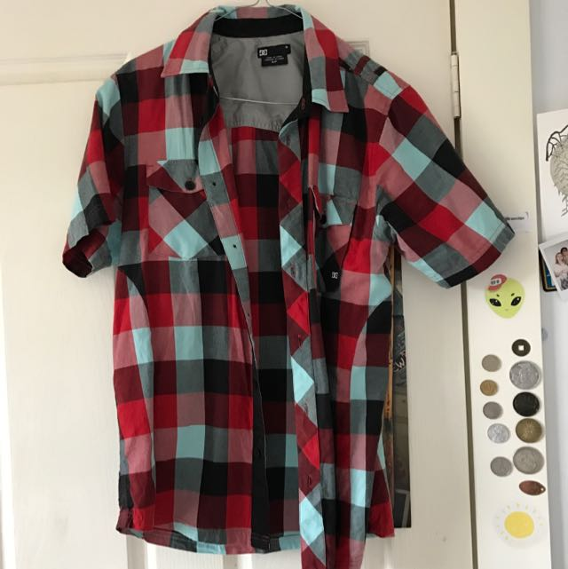 Checkered Red Black And White Shirt