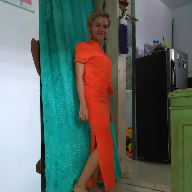 Chinese Dress Orange