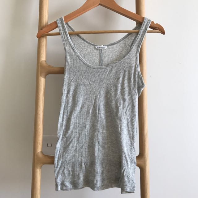Club Monaco Gray Cotton Top