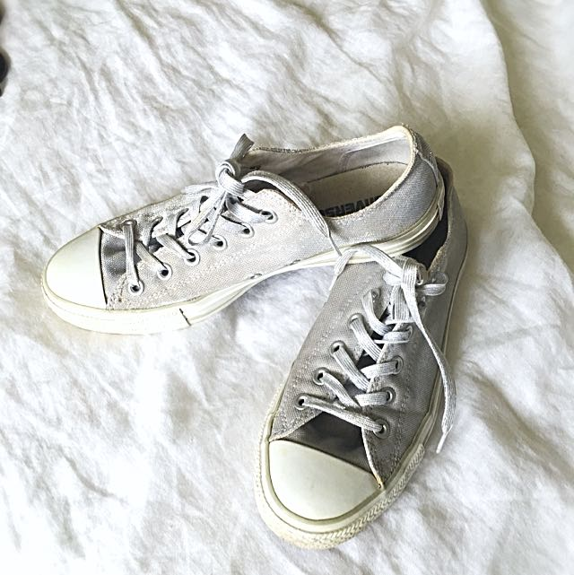 Converse All Stars Silver Lurex Thread